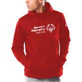 Under Armour Red Armour Fleece Hoodie-Primary Mark Horizontal
