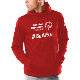 Under Armour Red Armour Fleece Hoodie-Hashtag Be A Fan
