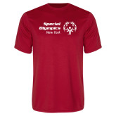 Performance Red Tee-Primary Mark Horizontal