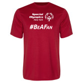 Performance Red Tee-Hashtag Be A Fan