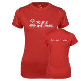 Ladies Syntrel Performance Red Tee-Young Athletes Shirt Front