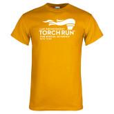 Gold T Shirt-Law Enforcement Torch Run