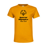 Youth Gold T Shirt-Primary Mark Vertical