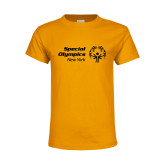 Youth Gold T Shirt-Primary Mark Horizontal