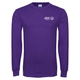 Purple Long Sleeve T Shirt-Primary Mark Horizontal
