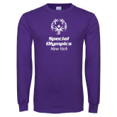 Purple Long Sleeve T Shirt-Primary Mark Vertical
