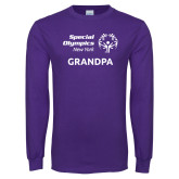Purple Long Sleeve T Shirt-Grandpa