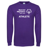 Purple Long Sleeve T Shirt-Athlete