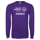 Purple Long Sleeve T Shirt-Coach