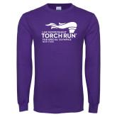 Purple Long Sleeve T Shirt-Law Enforcement Torch Run