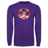 Purple Long Sleeve T Shirt-Polar Plunge