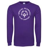 Purple Long Sleeve T Shirt-Play Unified
