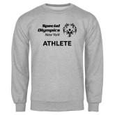 Grey Fleece Crew-Athlete