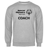 Grey Fleece Crew-Coach