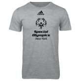 Adidas Sport Grey Logo T Shirt-Primary Mark Vertical