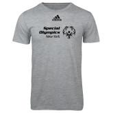 Adidas Sport Grey Logo T Shirt-Primary Mark Horizontal