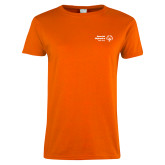 Ladies Orange T Shirt-Primary Mark Horizontal