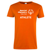 Ladies Orange T Shirt-Athlete