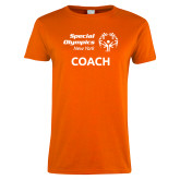 Ladies Orange T Shirt-Coach