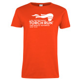 Ladies Orange T Shirt-Law Enforcement Torch Run
