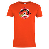 Ladies Orange T Shirt-Polar Plunge