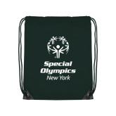 Dark Green Drawstring Backpack-Primary Mark Vertical