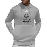 Adidas Grey Team Issue Hoodie-Primary Mark Vertical