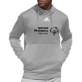 Adidas Grey Team Issue Hoodie-Primary Mark Horizontal