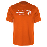 Performance Orange Tee-Primary Mark Horizontal