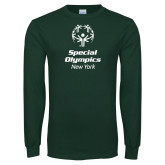 Dark Green Long Sleeve T Shirt-Primary Mark Vertical