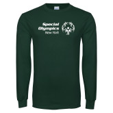 Dark Green Long Sleeve T Shirt-Primary Mark Horizontal