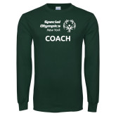 Dark Green Long Sleeve T Shirt-Coach