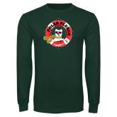 Dark Green Long Sleeve T Shirt-Polar Plunge