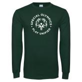 Dark Green Long Sleeve T Shirt-Play Unified