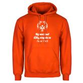Orange Fleece Hoodie-Primary Mark Vertical