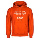 Orange Fleece Hoodie-Dad