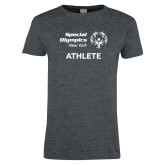 Ladies Dark Heather T Shirt-Athlete