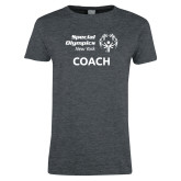Ladies Dark Heather T Shirt-Coach