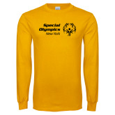 Gold Long Sleeve T Shirt-Primary Mark Horizontal