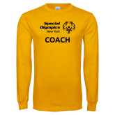 Gold Long Sleeve T Shirt-Coach