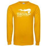 Gold Long Sleeve T Shirt-Law Enforcement Torch Run