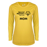 Ladies Syntrel Performance Gold Longsleeve Shirt-Mom