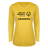 Ladies Syntrel Performance Gold Longsleeve Shirt-Grandma