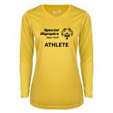 Ladies Syntrel Performance Gold Longsleeve Shirt-Athlete