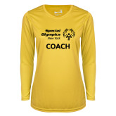 Ladies Syntrel Performance Gold Longsleeve Shirt-Coach