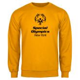 Gold Fleece Crew-Primary Mark Vertical