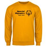 Gold Fleece Crew-Primary Mark Horizontal