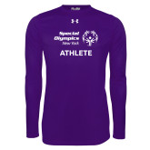 Under Armour Purple Long Sleeve Tech Tee-Athlete