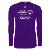 Under Armour Purple Long Sleeve Tech Tee-Coach