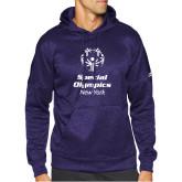 Adidas Purple Team Issue Hoodie-Primary Mark Vertical
